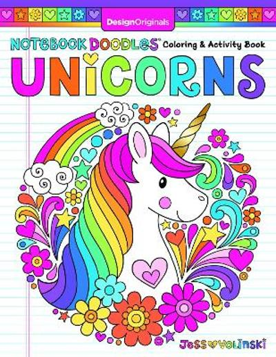 Notebook Doodles Unicorns - Jess Volinski
