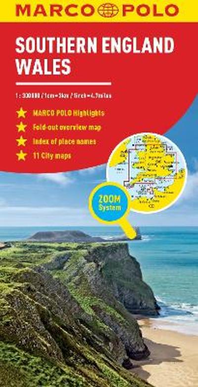 Southern England and Wales Marco Polo Map - Marco Polo
