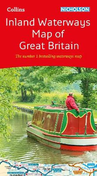 Collins Nicholson Inland Waterways Map of Great Britain - Nicholson Waterways Guides