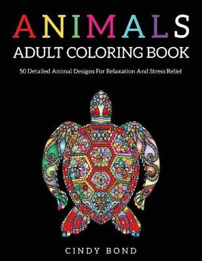 Animals Adult Coloring Book - Cindy Bond