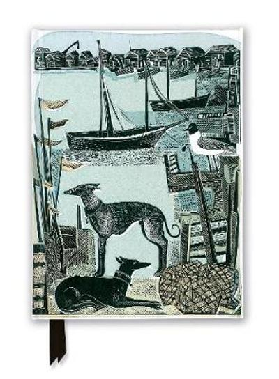 Angela Harding: Harbour Whippets (Foiled Journal) - Flame Tree Studio