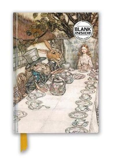 Arthur Rackham: Alice In Wonderland Tea Party (Foiled Blank Journal) - Flame Tree Studio