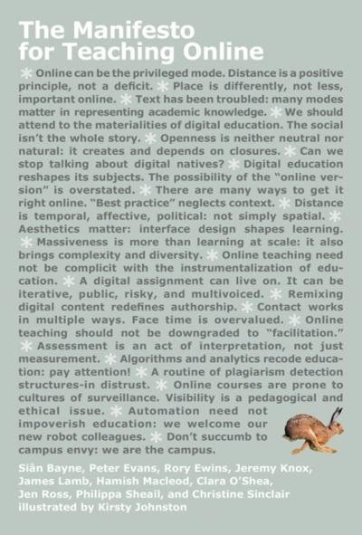 Manifesto for Teaching Online - Sian Bayne