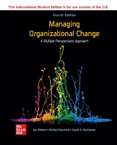 ISE eBook for Managing Organizational Change: A Multiple Perspectives Approach - PALMER