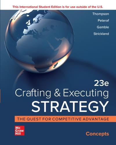 ISE eBook Online Access for Crafting & Executing Strategy: Concepts and Cases - THOMPSON