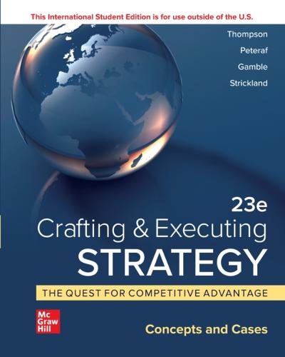 ISE eBook Online Access for Crafting & Executing Strategy: Concepts - THOMPSON