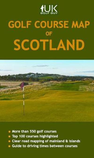 Golf Course Map of Scotland - David Jones
