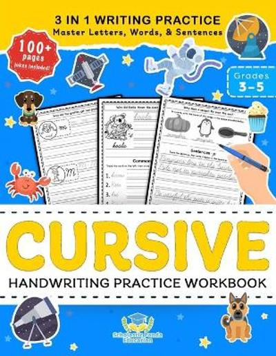 Cursive Handwriting Practice Workbook for 3rd 4th 5th Graders - Scholastic Panda Education