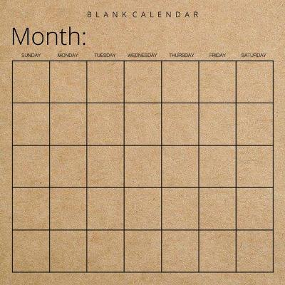 Blank Calendar - Llama Bird Press