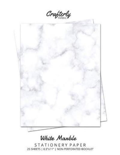 White Marble Stationery Paper - Crafterly Paperie