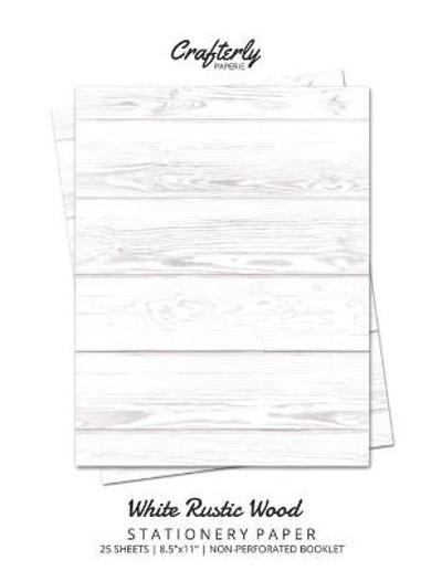 White Rustic Wood Stationery Paper - Crafterly Paperie