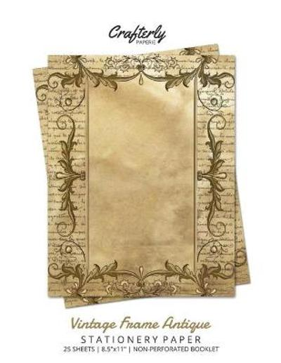 Vintage Frame Antique Stationery Paper - Crafterly Paperie