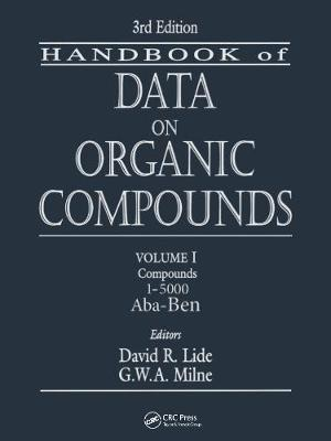 CRC Handbook of Data on Organic Compounds - David R. Lide