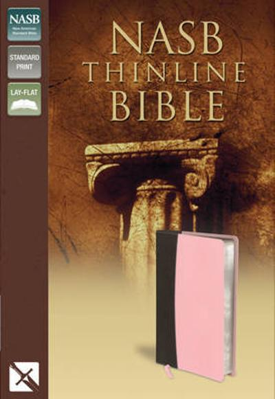 NASB, Thinline Bible, Leathersoft, Brown/Blue, Red Letter Edition - Zondervan Publishing