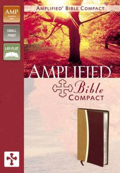Amplified Bible, Compact, Imitation Leather, Tan/Burgundy - Zondervan Publishing
