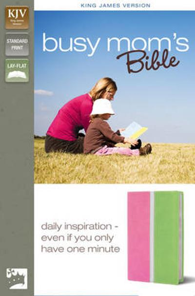 KJV, Busy Mom's Bible, Imitation Leather, Pink/Green, Red Letter Edition - Zondervan Publishing