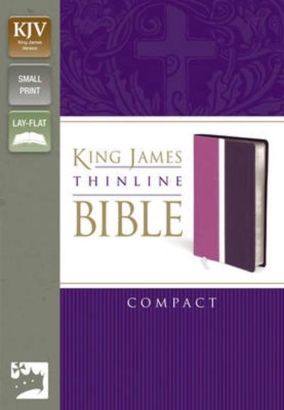 KJV, Thinline Bible, Compact, Imitation Leather, Pink/Purple, Red Letter Edition - Zondervan Publishing