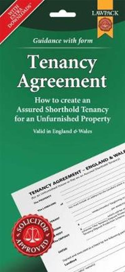 Unfurnished Tenancy Agreement Form Pack -