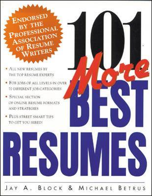 101 More Best Resumes - Jay Block