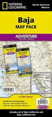 Baja California, Mexico, Map Pack Bundle - National Geographic Maps
