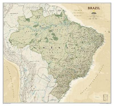 Brazil Executive, Laminated - National Geographic Maps