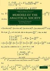Memoirs of the Analytical Society - Charles Babbage John Herschel