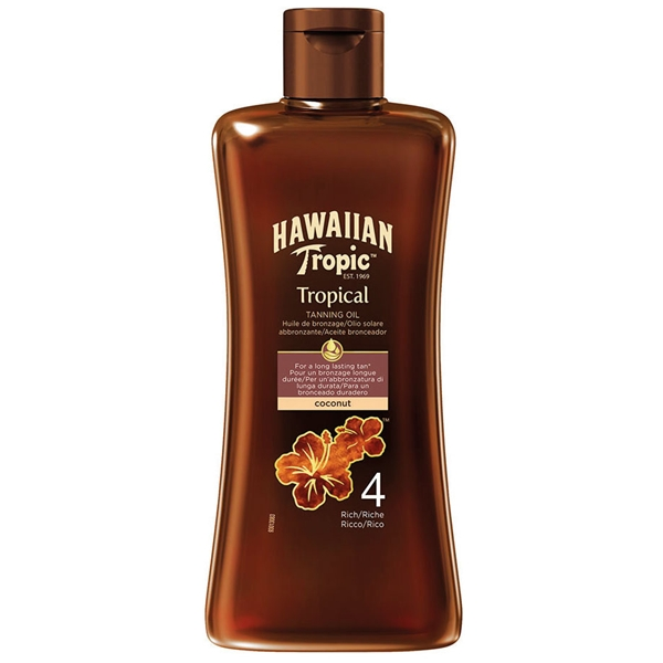 Tropical Tanning Oil Spf 4 Rich - Hawaiian Tropic
