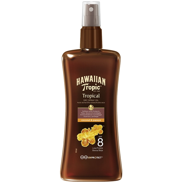 Protective Dry Spray Oil Spf 8 - Hawaiian Tropic