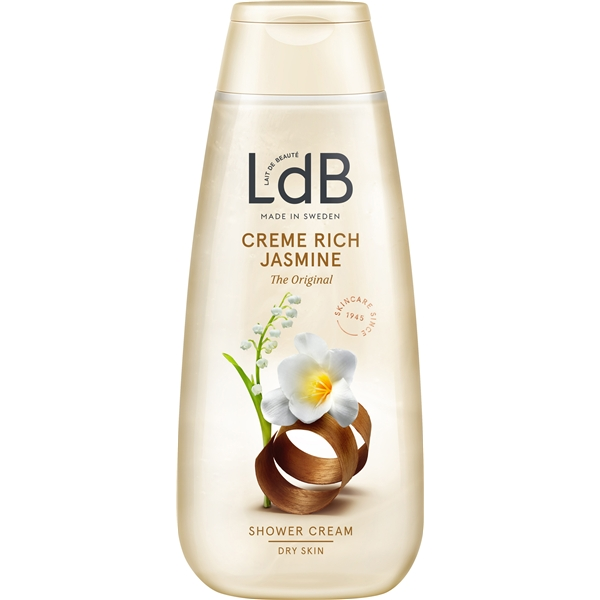 LdB Shower Cream Rich Jasmine - Dry Skin - LdB